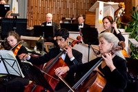 Falmouth Chamber Players Orchestra cellos